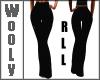 Black stribed pants RLL