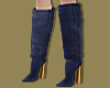 Navy Fold-Over Boots