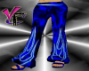 Blue Flaming Pants