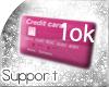 [T] 10k Support Sticker