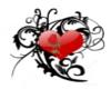 heart/rose Belly tat