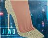J! Gold Pump Shoes