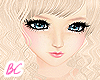 Blonde wavy [hair]
