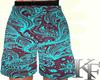 KF*Short floral azul