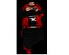 oufit negro -rojo