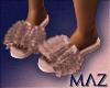 G. MLZ Fur Slippers RG