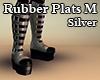 Rubber Plats M Silver