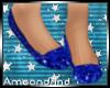 AM:: Blue Glitter Flats