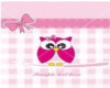 OWL BABY GIRL TOY