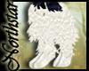 ~NS~ White ankle fur (L)
