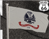 SD US Army Flag in wind