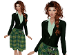 TF* Jacket & Kilt Green
