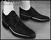 v̶. Black Derby Shoes.