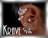 [K] SILVER EARRINGS