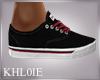 K  steve red blk shoe