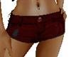 Daisy Shorts Dark Red