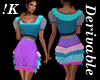 !K! Ruffled Shorts Set