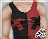 Ⱥ™ Red Black Tank Top