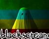 Halloween neon ghost