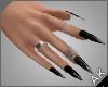 ~AK~ Nails: Silver/Onyx