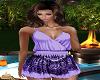 S/~Purple Cute Romper