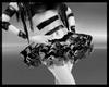 B silvery cyb' skirt