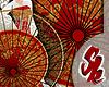 Ornate Umbrella Red