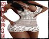 Dress Cherry white
