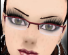Half Framed Red Glasses