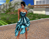 Gala Blue Silk Dress