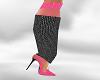 *AL* Blk/Pink Lace Heel