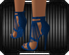 Cool Blue Tissels Heels