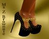 Black & Gold Coin Heel