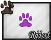 !R; Paw Sticker Purple