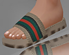Striped Sandals.