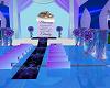 Purple Blue Wedding Room
