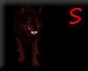 Dark red wolf