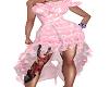 Rose pink formal dress