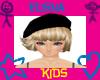 Elisha Blk Beret Blonde