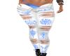 Tribal print jeans V2