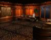 Carved wood meeting room