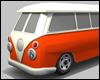 Orange Vintage Van