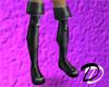 Fold Thigh Boots (blk)