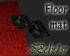 [Bebi] Red/blk floormat