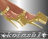 K*Shoes gold platforms