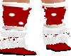 Furry Red Pokadot Shoes