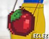 SWhite apple bag