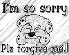 sorry sticker