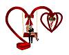Valentines Hearts Swing
