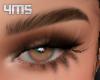 Dark brown brows